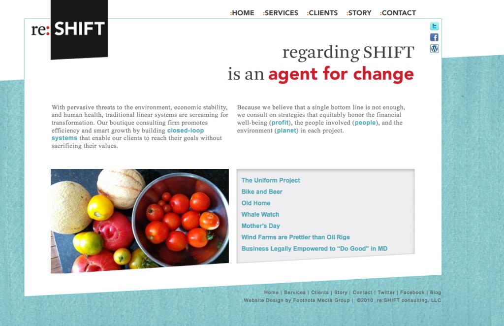 website design regardingshift.com